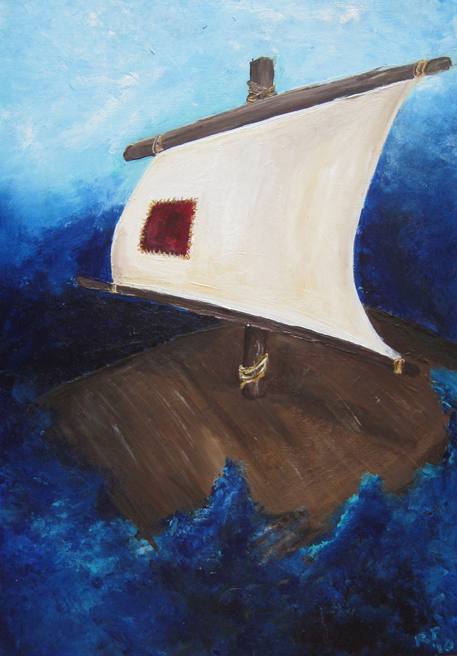 """Wisdom Waits"" (acrylic on wood, June 2010), Rae Ann Pritchard"